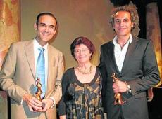 Afonso Gan, Raquel Rico y Pedro Halffter (foto: Diario de Sevilla)