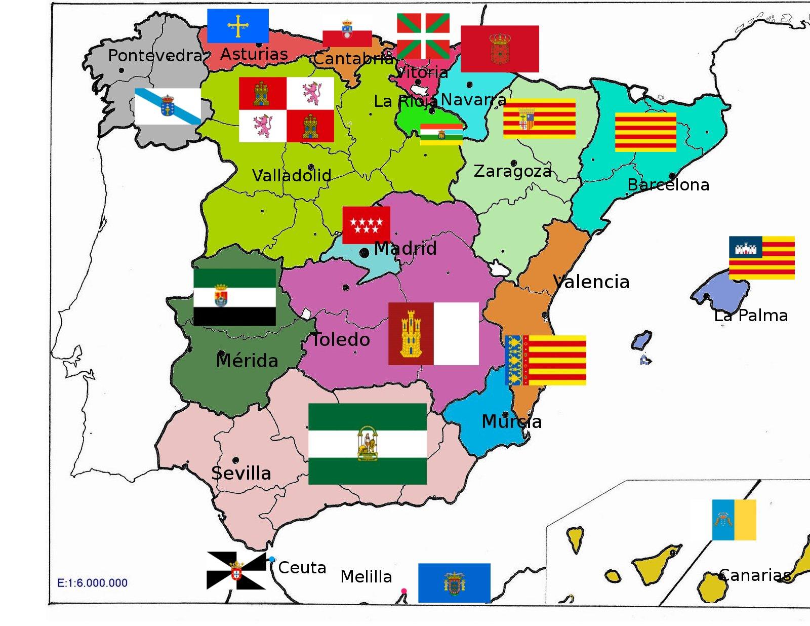 Mapa De España Provincias Y Comunidades.Mapas De Espana Para Descargar E Imprimir Completamente